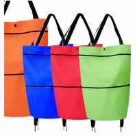 Tas Belanja Lipat Trolly Dengan Roda Serbaguna Trolly Traveling Bag