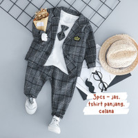 baju anak cowo model korea laki jas blazer tshirt celana pesta formal