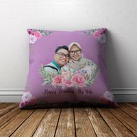Bantal Sofa Bantal Custom Untuk Pernikahan Kado Ulang Tahun Keren - 40x40