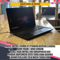 ASUS ROG GL553VD NVIDIA GEFORCE GTX CORE I7 7700HQ LAPTOP GAMING MURAH