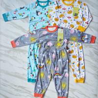 Piyama Velvet Junior setelan terbaru 3pcs - baju bayi dan anak - Here comes the, L