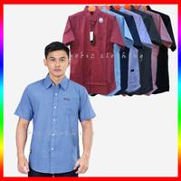 Kemeja Pendek Pria Premium Distro Polos Baju Hem Kerja Kasual Formal