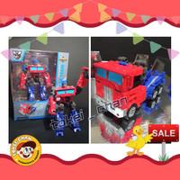 Mainan Robot Transformer Cocoa Team Robot Optimus Prime Transformer