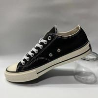 Sepatu Converse low pendek 70s premium warna hitam putih allstars