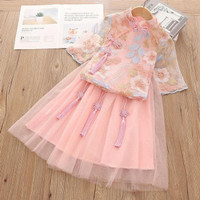 Pakaian Adat Baju Imlex Anak-Baju China Pink-Baju Cheongsam Pink Promo