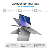 ASUS ZenBook Flip 14 UM462DA AI501TS RYZEN 5 3500U 8GB 512GB W10 OHS