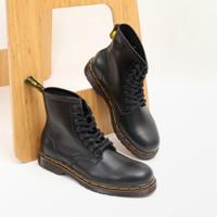 Sepatu boot pria wanita couple kulit asli Boston exodus model Docmart