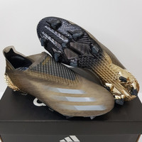 Sepatu Bola - Soccer Adidas X Ghosted+ Atmospheric Black Gold - FG