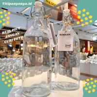 Botol Air dan Minyak Goreng Kaca Bening 1 Liter (KRKN)