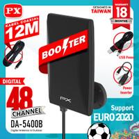 PX DA 5400B Antena TV Digital Analog+Kabel 12M Booster Indoor/Outdoor