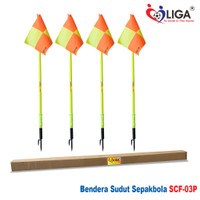 Set Bendera Sudut Lapangan Profesional LIGA SCF03P Isi 4pcs