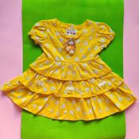 baju bayi perempuan 6 12 bulan susun 3 kuning