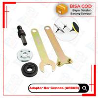 Arbor Gerinda Konektor Adapter untuk Mesin Bor Drill Adaptor Set