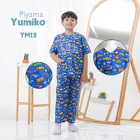 Piyama Baju tidur anak laki laki katun adem Yumiko series by shofwah
