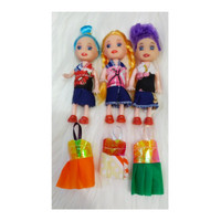 Mainan Boneka Barbie anak isi 5 pcs UK. 10 cm - isi 3+baju