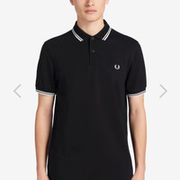 Polo Shirt Fred Perry Twin Kaos Kerah Polos Lacoste