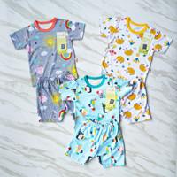 velvet junior setelan terbaru baju & celana pendek - bayi & anak 3pcs - Madagascar, S