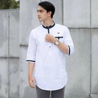 Koko qurta pria premium original habib bahan poplin premium baju kurta