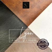 Bahan Kulit Sintetis Meteran GARANSI PVC - LYON 1x1.37M - Coffee