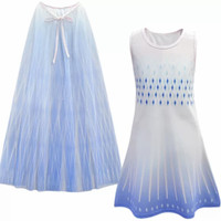 Baju anak impor gaun dress perempuan kostum frozen elsa sayap dilepas
