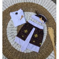 Setelan pakaian / baju adat Bali anak laki-laki / cowok- Set kamen ude