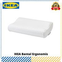 Bantal Ergonomis IKEA Rosenskarm Putih, Original IKEA