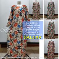 DASTER Lengan Panjang Baju Tidur Wanita Batik Longdress [davi]