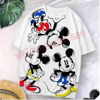 Kaos Wanita Oversized Longgar Triple Mickey 02