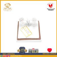 SBJ - Anting emas putih asli 750 emas original Amp225