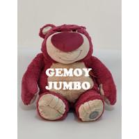 GEMOY JUMBO BONEKA BERUANG LOTSO JUMBO 50CM ORI DISNEY MERAH MARUN