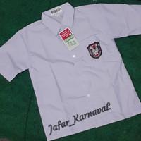 baju seragam sekolah lengan pendek sd/mi - Putih, 5