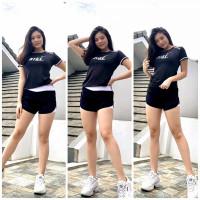 setelan baju olahraga wanita baju senam gym fitnes yoga Hotpants