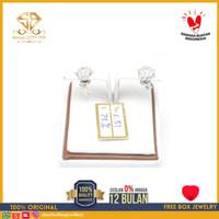 SBJ - Anting emas putih asli 750 emas original Amp 151