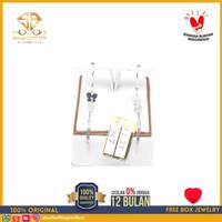 SBJ - Anting emas putih asli 750 emas original Amp 132