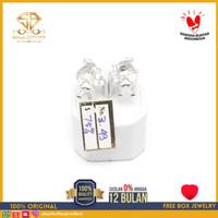 SBJ - Anting emas putih asli 750 emas original Amp 349