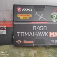 Mobo MSI B450 Tomahawk Max + AMD Ryzen 5 1600 ( versi AF) setara 2600