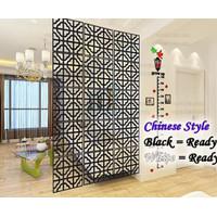 Sale Vintage 3D Chinese Style Tirai Gantung / Partisi Penyekat Ruangan