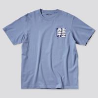 UNIQLO UT Anime T-shirt One Piece Kaos Lengan Pendek - Blue Strawhats