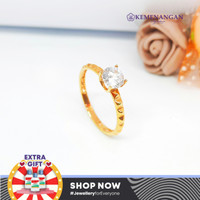 Cincin Emas Model Satu Mata Putih (gold) Kadar : 700 %