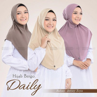 Jilbab bergo daily - Mocca, Kerut