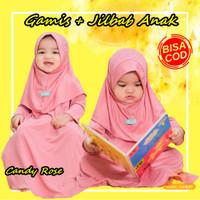 [BISA COD] Baju Gamis Anak Bayi Perempuan Muslim Daily Nuha Candy Rose - XS