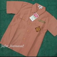 baju seragam sekolah lengan pendek, Seragam pramuka warna coklat Sd/MI - Cokelat, 5