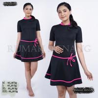 Baju Renang Rok Dewasa/.Baju Renang Perempuan Dewasa/Baju RenangDeving - DRD PINK, L