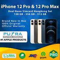 (DUAL NANO SIM) Apple iPhone 12 Pro & 12 Pro Max 128GB 256GB 512GB - 12 Pro 128, Graphite