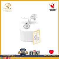 SBJ - Anting emas putih asli 750 emas original Amp 183