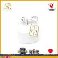 SBJ - Anting emas putih asli 750 emas original Amp 101