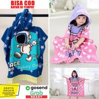 Kids Hooded Towel / Baju Handuk Hoodie Handuk Ponco Topi Renang Anak