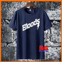 Baju Kaos Wanita Pria Distro - Baju Kaos Bloods Non Original - Navy