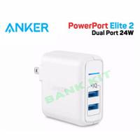 Anker Powerport Elite 2 Wall Charger Dual Port USB 24W Original