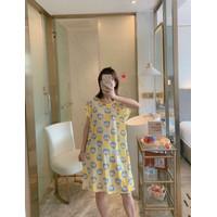 4018 Daster Wanita DORAEMON JUMBO import piyama baju tidur karakter